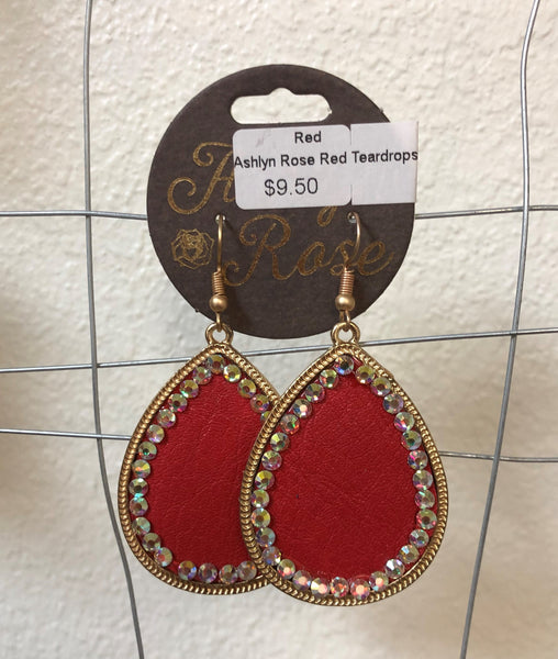 Rhinestone & Leather Bling Earrings