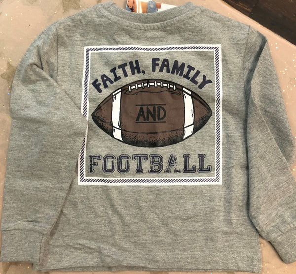 Faith, Family & Football Long-Sleeved T-Shirt