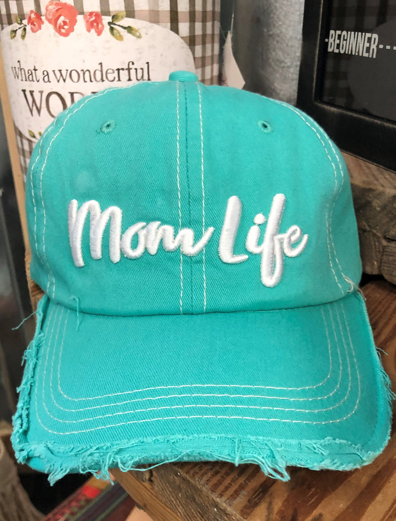 Distressed Mom Life Ball Cap