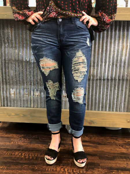 American Blue Distressed Jeans