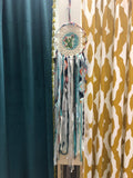Hand Crafted Fabric Strip Gypsy Dream Catcher