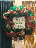 "Reason for Season 16"" Christmas Mesh Wreaths"