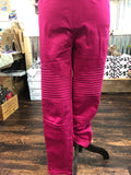 Magenta Tiered Jeggings