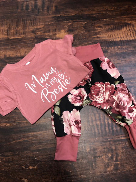 Rose Harem Baby Pants