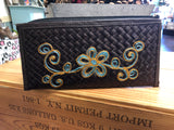 Large Handmade Bali Straw Embroidered Clutches