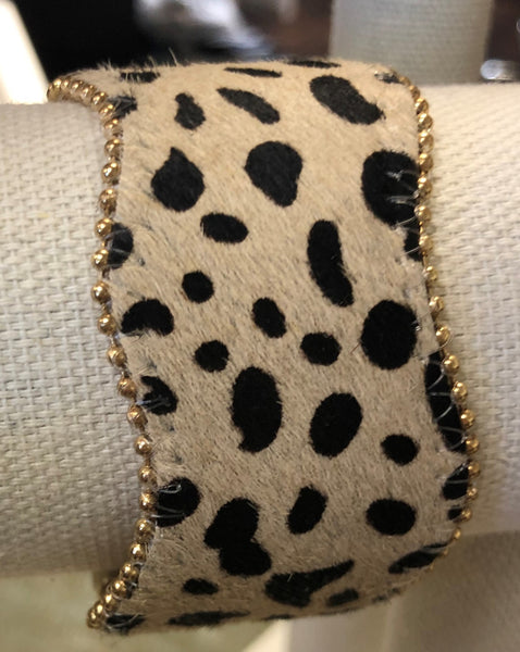Spotted Leopard Cheyenne Magnetic Closure Bracelet