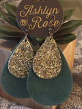 Large Glitter 2-Tiered Teardrop Earrings