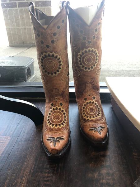 Texas Legacy Tan Cowgirl Boots