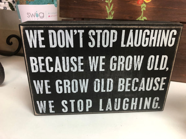 Laughing Box Sign