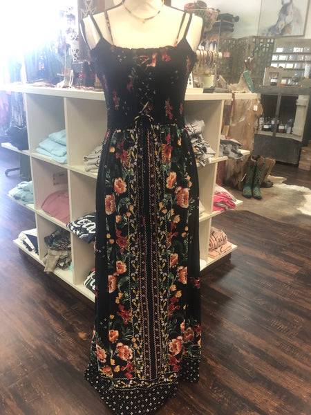 Strapped Floral Maxi Dress