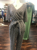 Fleecy Polyester Animal Print Jumpsuit