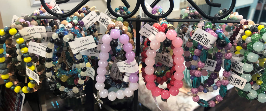 Homemade Stretchable Bead Bracelet Mystery Grab Bag (3 Bracelets)