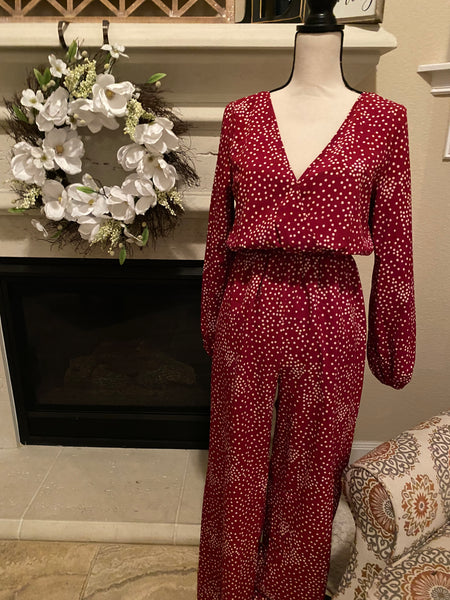 Small Red Polkadot Jumpsuit