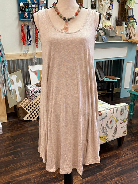 2XL Beige T-Shirt Tank Dress