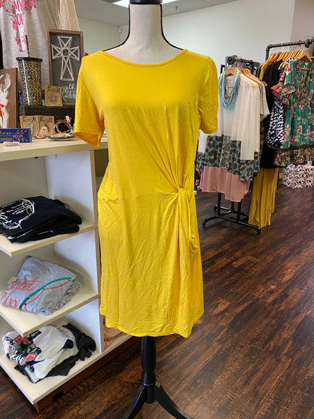 Small Gathered Yellow Dress