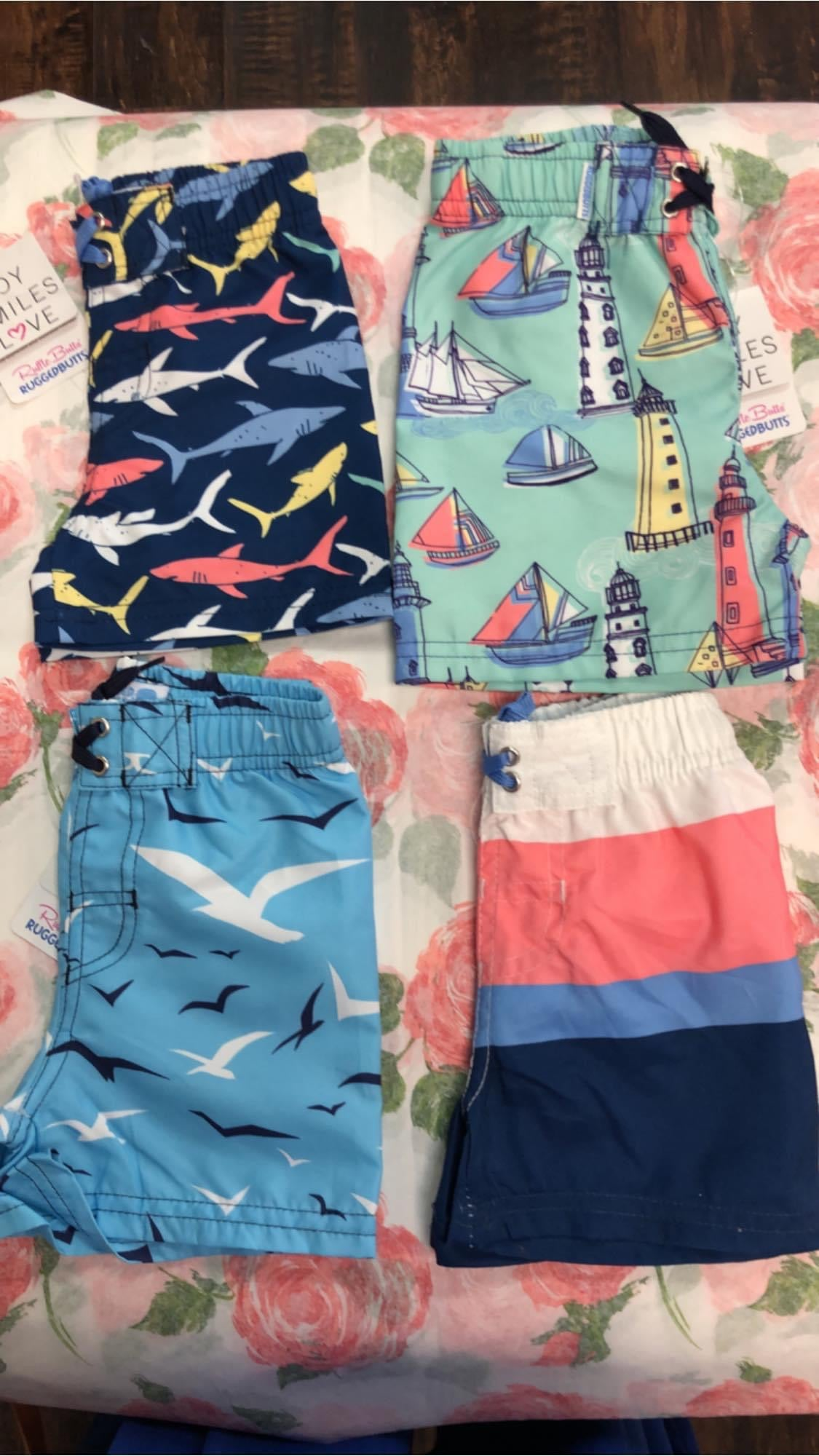 Ruffle Butts Toddler Swimming Shorts