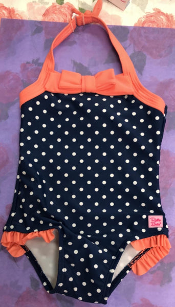Infant/Toddler Polka Dot Halter Bathing Suit