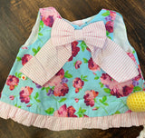 Life is Rosy Bow-Front Swing Top