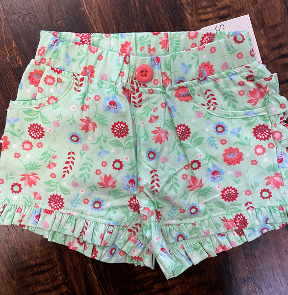 Darling Dahlias Ruffle Shorts