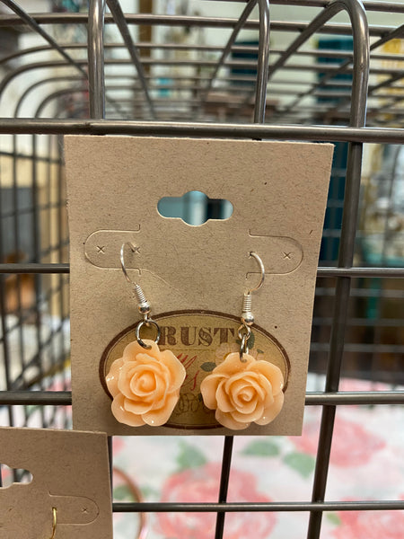 Rose Charm Earring Dangles