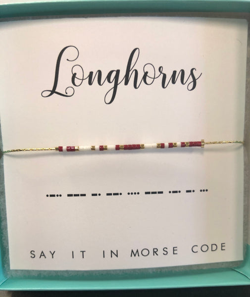 Lamar Consolidated ISD Longhorn Morse Code Bracelets