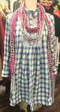 Blue Plaid Baby Doll Dress