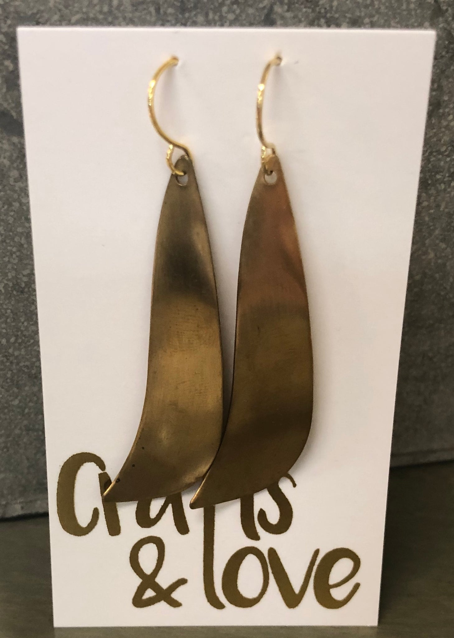 Gold Geometric Dangle Earrings