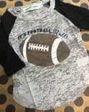 Youth 3/4 Lace Sleeved Football Y'all Top