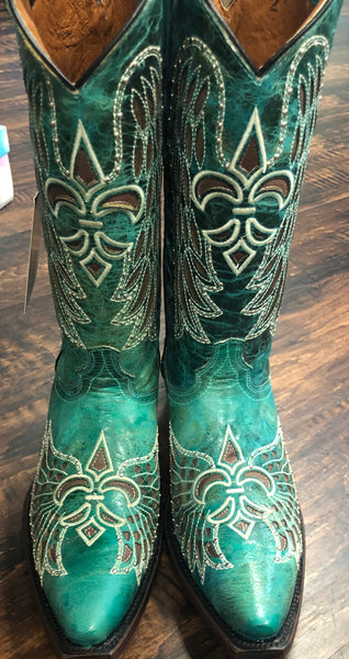 Turquoise Rodeo Rebel Cowgirl Boots