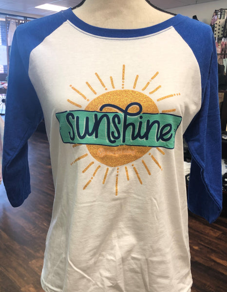 "Itsa Girl Thing ""Sunshine"" Raglan T-Shirt"