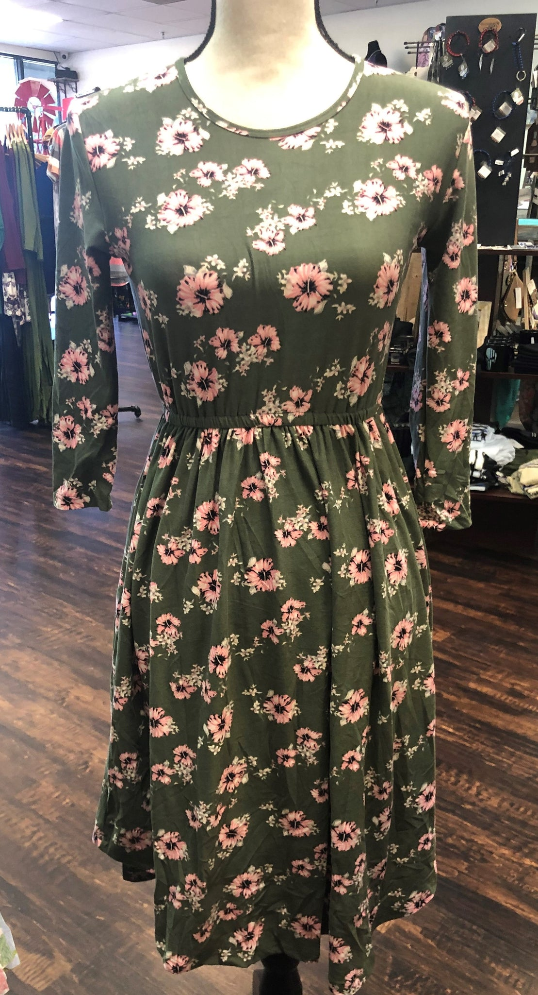 Floral Scoop Dress