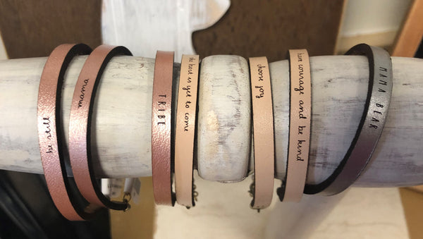 Laurel Denise Leather Bracelets