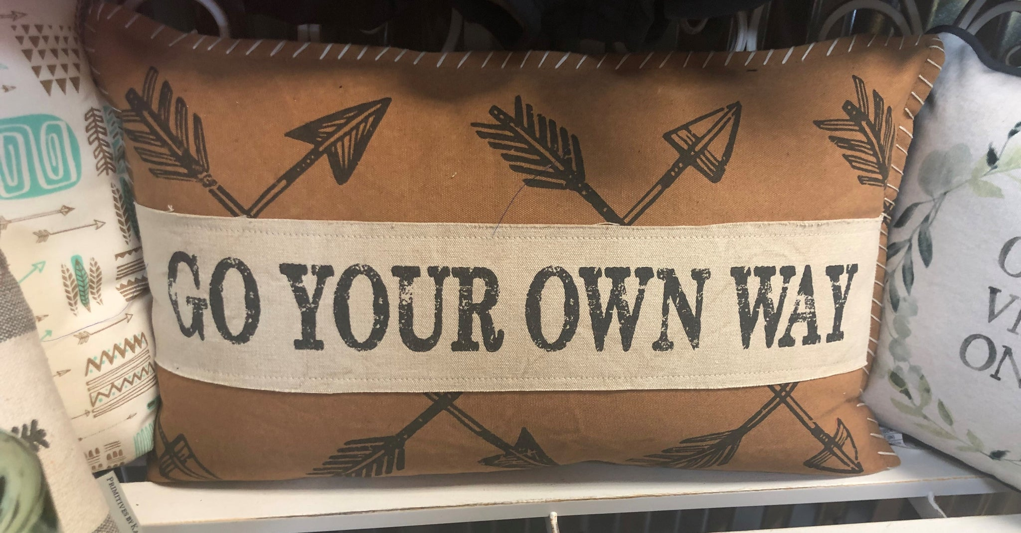 Go Your Own Way Pillow