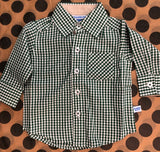 Pine Gingham Button Down Shirt