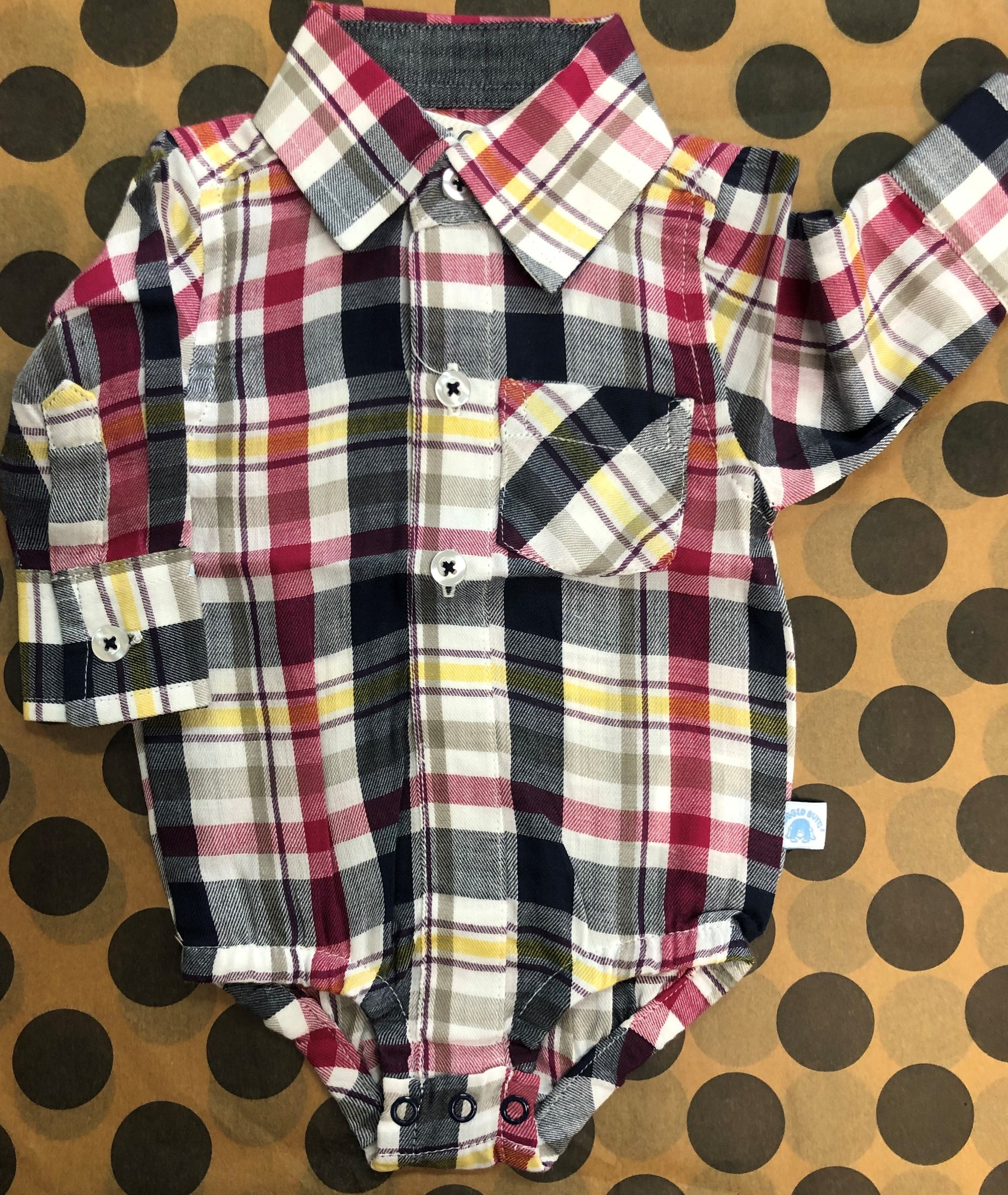 Taylor Plaid Button-Up Body Suit