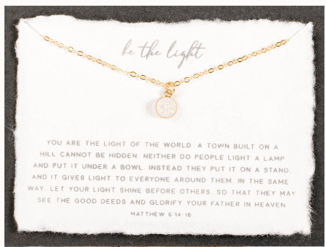 "Be The Light 18"" Necklace"