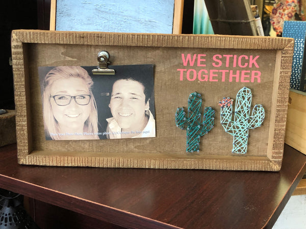 We Stick Together String Art Box Frame