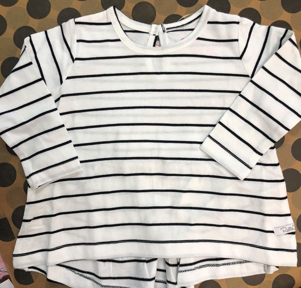 Striped Back Bow Top