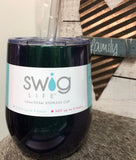 14oz Swig Stemless Wine Tumbler: Mermaid Shimmer