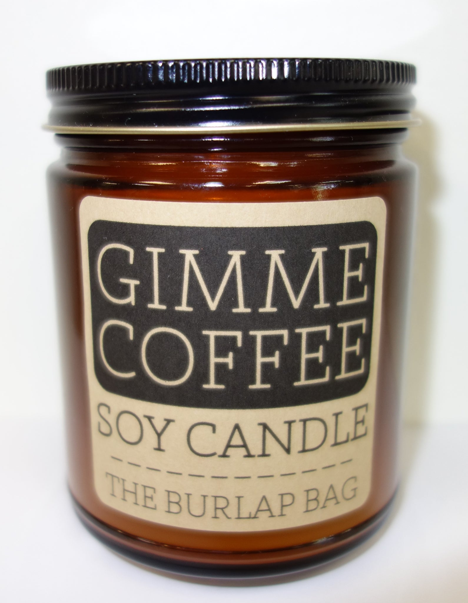 The Burlap Bag Soy Candle: Gimme Coffee
