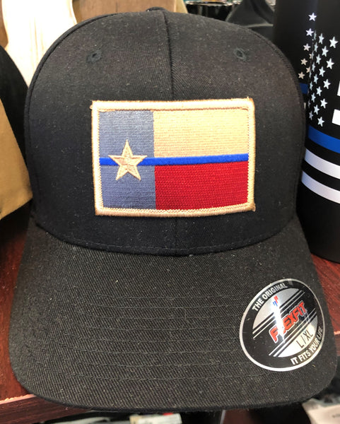 Thin Blue Line Texas Flag Cap