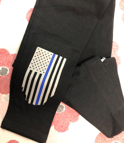 Thin Blue Line Flag Leggings
