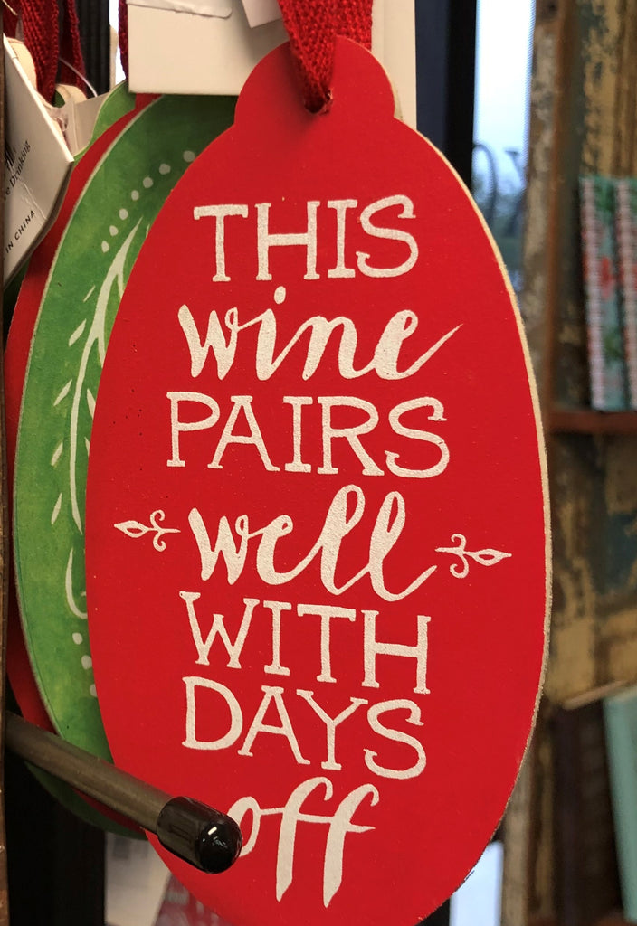 Christmas Wine Tags