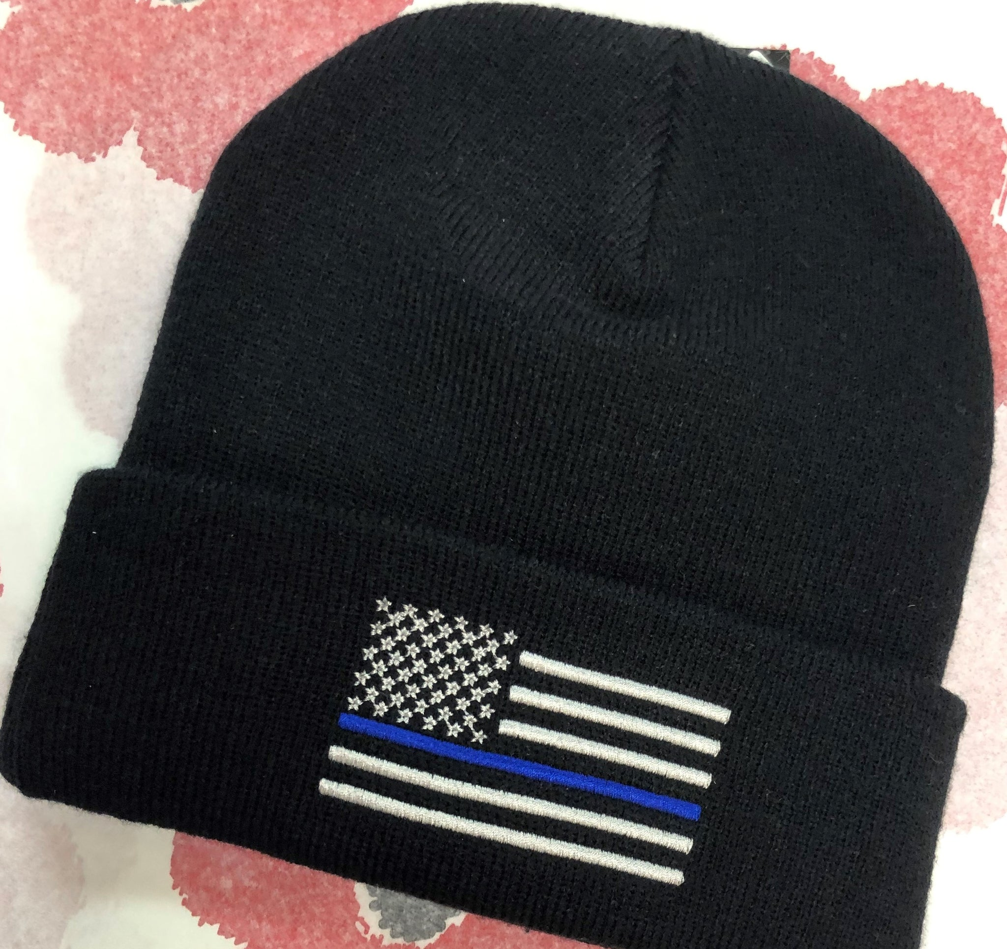 Thin Blue Line Head Beanie