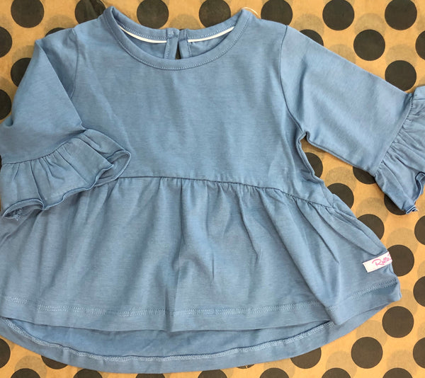 Bell Sleeve Tunic (Slate Blue)