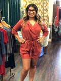 ¾ Roll Sleeve Romper By Lush