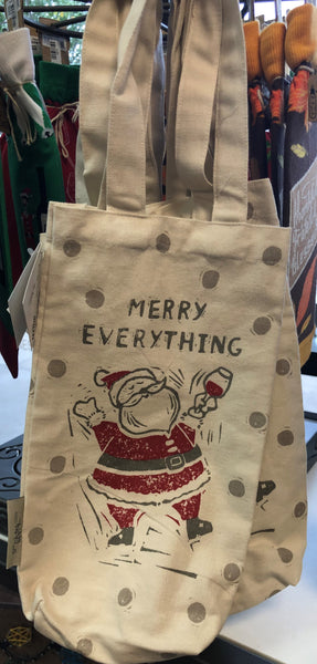 Canvas Wine Bag: Christmas