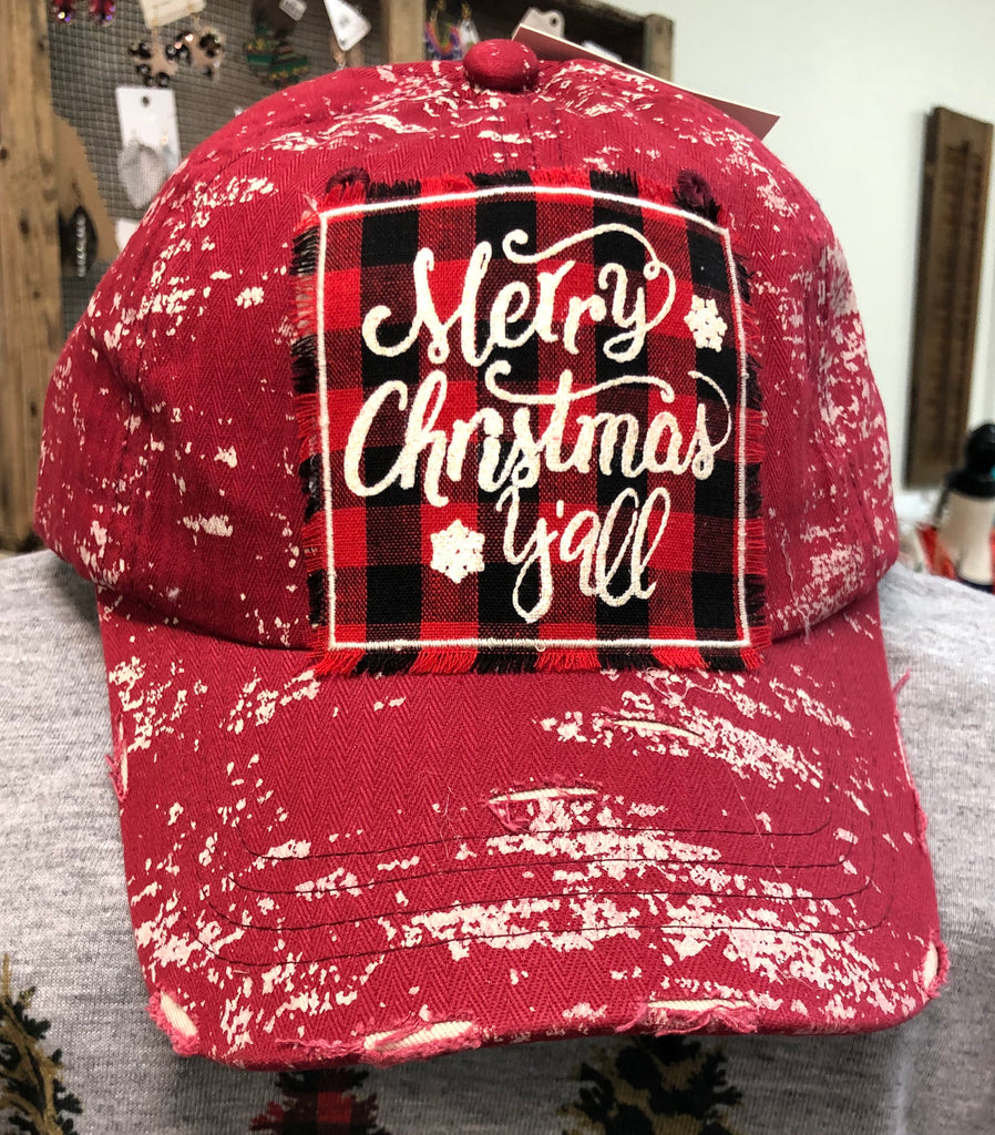 Merry Christmas Y'all Ball Cap