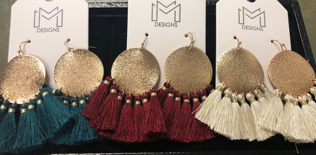 Trudy Circle Fringe Earrings