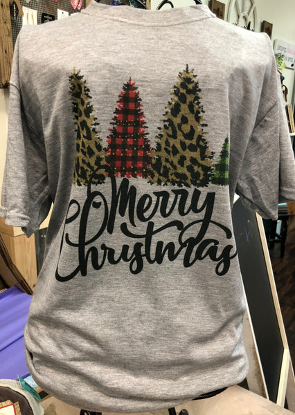 Merry Christmas Tri Tree Tee Shirt